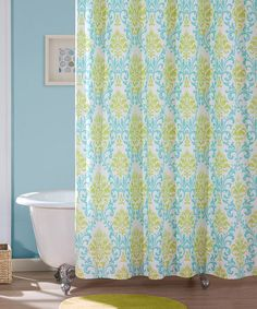 Loving this Teal Carla Shower Curtain on #zulily! #zulilyfinds