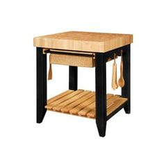 Powell Trinity Butcher Block Kitchen Island