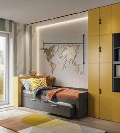 Room Interior Design, Kids Room Design, Home Room Design, Living Divani, Single Bedroom, House Rooms, Kids Bedroom, Home Office, Room Decor
