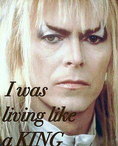 ....and fortunately.... Labyrinth 1986, Labyrinth Movie, Puffy Dresses, Aladdin Sane, The Thin White Duke, Goblin King, Major Tom, King David, Ziggy Stardust