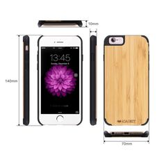 iCASEIT iPhone Wood Case - Premium Finish Unique Cases - Lightweight Natural Wooden Hybrid Snap-on Protective Cover for iPhone 6 & - Zebra Wood/Clear Buy Iphone 6, Iphone Cases, 6s Plus Case, 6 Case, Clean Design, Apple Watch, Cell Phone Accessories, Bamboo, Phones