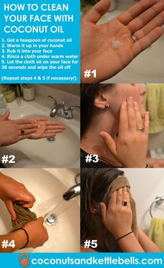 So reinigen Sie Ihr Gesicht mit Kokosöl Yes, you CAN actually clean your face with coconut oil! Here's a quick and simple tutorial for how to clean your face with coconut oil, and more info about using coconut oil on your face. via Noelle Tarr – Glitzernd Belleza Diy, Tips Belleza, Beauty Hacks For Teens, Coconut Oil For Acne, Coconut Oil Face Cleanser, Coconut Oil For Eyebrows, Pulling With Coconut Oil, Organic Coconut Oil Uses, Whipped Coconut Oil