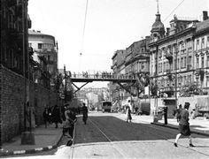 Ulice Getta kiedyś i dziś.Kładka nad ul, Chłodną Warsaw, Historical Photos, Poland, Street View, Culture, History, Architecture, City, Lost