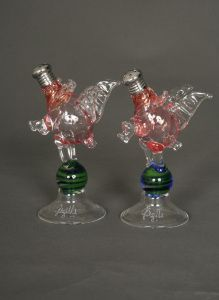 Pair of Hand Blown Glass Flying Pig Salt & Pepper Shakers. $119.95. www.ctlighting.com #holidaygifts