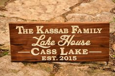 ABOUT THIS SIGN~ Custom Carved Hardwood Sign With Outdoor White Paint and Optional Outdoor Marine Finish To Protect Your Investment.  Pick Your Hardwood in the Drop Down Tab at Checkout for Your Unique Outdoor Sign. 22 x 9 Fits 2-3 Lines 24 - 26 Fits 3-4 Lines 28 - 30 Fits 4-5 Lines  Rustic Walnut, Outdoor Mahogany Hardwood (O/D Mahogany) or Outdoor White Oak Hardwood (O/D White Oak).  To Order: At Checkout Please Put your Text Request in The Notes To Seller Box. Double Check Your S...