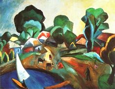 Landscape With A Sail by Robert Falk.1912