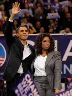 """If Oprah Winfrey could add Barack Obama to her """"Favorite Things"""" list, we're sure she would! The talk show queen stood by her candidate at a rally in New Hampshire on Dec. 9, 2007."""
