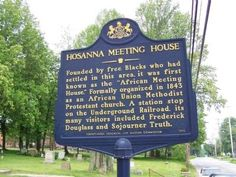 "Pennsylvania-  Founded by free Blacks who had settled in this area, it was first known as the ""African Meeting House,"" Formally organized in 1843 as an African Union Methodist Protestant church. A station stop on the Underground Railroad, its many visitors included Frederick Douglass and Sojourner Truth."