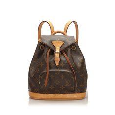 Pre-Owned Louis Vuitton Monogram Mini Montsouris In Black Louis Vuitton Monograme, Pre Owned Louis Vuitton, Sacs Louis Vuiton, Monogram Canvas, Belt Buckles, Ipod, Bucket Bag, Backpacks, Mini