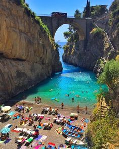 The amazing beach in Fiordo di Furore, Italy