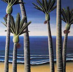 Nikau Palms by Diana Adams for Sale - New Zealand Art Prints Nz Art, Art For Art Sake, Decoration, Art Decor, Renaissance, New Zealand Landscape, New Zealand Art, Maori Art, Kiwiana