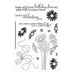 Ellen Hutson, LLC features Clearly Besotted Clear Stamps, Celebrating You.