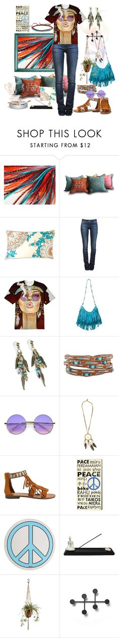 """Boho, Baby!"" by polyamorless ❤ liked on Polyvore featuring Étoile Isabel Marant, Yves Saint Laurent, Sweet Romance, NOVICA, ZeroUV, Steve Madden, Seletti, Menu and Johnny Was"