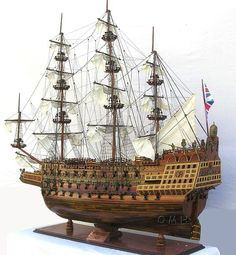 "HMS Sovereign of the Seas 1637 XL Limited Edition Wooden Tall Ship 58"" Model - Wooden"