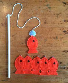 Toddler Educational Toys, Magnet Felt Fishing Game, Fishing Kids Game, Handmade Toys, Montessori Gam Source by etsy Kids Crafts, Felt Fish, Waldorf Toys, Montessori Toys, Montessori Toddler, Montessori Bedroom, Handmade Felt, Felt Toys, Sock Toys