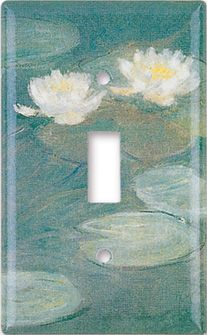 Monet: Water Lilies decorative switch plate.