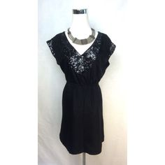 French Connection Sequin Drawstring Dress Size 0