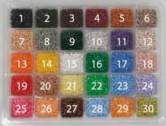 30 unique bead colors adapted for PhotoPearls software. Comes with the PhotoPearls starter kits and are available as refills. Fuse Beads, Hama Beads, 151 Pokemon, Starter Kit, Beading Patterns, Pixel Art, Project Ideas, Software, Inspire