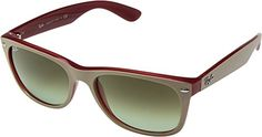 Ray Ban sunglasses    RayBan Unisex 0RB2132 New Wayfarer 58mm Beige On RedGreen Gradient Sunglasses >>> Click on the image for additional details.-It is an affiliate link to Amazon. #RayBansunglasses
