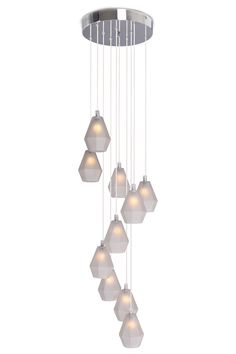 Ava Frosted Glass 10 Light Cluster | BHS