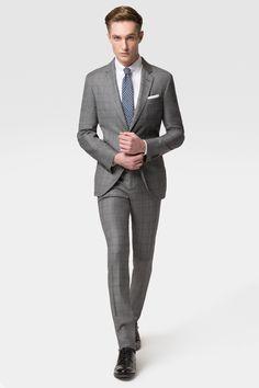 Hocheleganter Karo-Anzug, Slim fit, 100% Schurwolltuch von Lora Piana/Italien (€ 413,00) | Hackett
