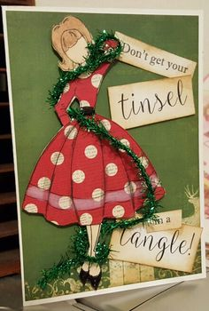 Julie Nutting Prima Christmas doll, Audrey in her Christmas dress! You can fit her on a 5x7 if you make her legs just a smidge! shorter!