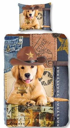 Kids-Style Dekbedovertrek 3802 Sherrif Dog