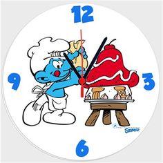 Şirinler - Pastacı Şirin - Kendin Tasarla - Duvar Saati 27cm