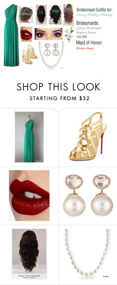 """The Jewel of His Life: Ginny's Bridesmaids"" by capeles on Polyvore featuring beauty, Christian Louboutin, Charlotte Tilbury, Samira 13, WigYouUp, Bling Jewelry and Laura Cole"