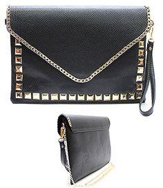 Studded black clutch!!