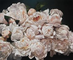 Peonies Painting - Peonies Eclater 167 X 200 Cm by Thomas Darnell