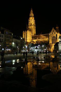Antwerp in the rain