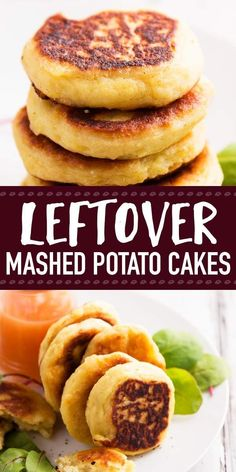 Use your leftover mashed potatoes in this Leftover Mashed Potato Cakes recipe! They go from fridge to table in 15 minutes and make for a super-speedy lunch! Dip them in cranberry sauce - perfect for your Thanksgiving and Christmas holiday leftovers. | #recipe #easyrecipes #thankgivingrecipes #leftovers #leftoverrecipes #thanksgivingleftovers #christmasleftovers #holidayrecipes Leftover Mashed Potato Pancakes, Leftover Mashed Potatoes, Mashed Potato Recipes, Potato Dishes, Cheesy Potatoes, Potatoes For Mashing, Baked Potatoes, Recipe For Potato Cakes, Mashed Potato Patties