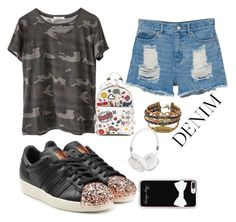 """""""Untitled #1175"""" by giselaturca on Polyvore featuring adidas Originals, Ragdoll, Monki, Anya Hindmarch, Casetify and Frends"""