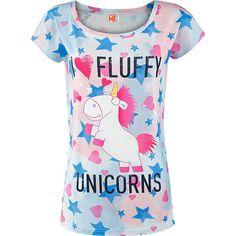 Minions T-skjorte, Damer -I Love Fluffy Unicorns- -- Kjøp nå hos EMP -- Mer Fan merch T-skjorter tilgjengelig online - Uslagbare priser!