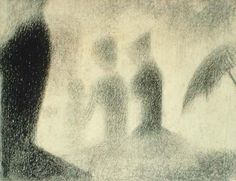 Georges Seurat Three Young Women ca. 1884-85 conté crayon on paper