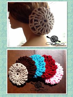 Your Place To Learn How To Make The Crocheted Hair Bun Cover For - Diy bun cover