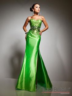 Tony Bowls Le Gala - 113526  The fabric in this style is Charmeuse with Matching shawl included   lilliansonline.com