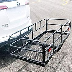 Buy Merax Hitch Cargo Carrier X X Foldable Mount Basket Luggage Rack 360 lbs Capacity Fits Receiver Best Bike Rack, Weekend Camping Trip, Luggage Rack, Trailer Hitch, Pet Carriers, Roof Rack, Folded Up, Basket, Road Trips