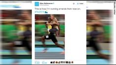 Ellen's Usain Bolt tweet deemed racist Ellen's Usain Bolt tweet deemed racist   Monday the daytime talk show host's official Twitter account tweeted a doctored image of Ellen riding the back of the gold medalist. The photo is the now famous one of him smiling as he heads to winning the men's 100m race at the Olympics in Rio. Some on Twitter found the image less than golden with cries of racism and insensitivity in joking about a white woman riding the back of a black man.But others defended…