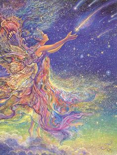 Catch a Falling Star Greeting Card (Birthday) - Josephine Wall