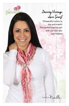 Dainty Vintage Lace Scarf, Blossom Lane by Simply Noelle. http://www.NoelleEnterprises.com #SimplyNoelle