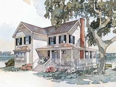 Eplans Farmhouse House Plan - Windsong Cottage from The Southern Living