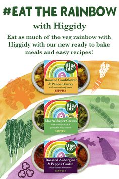 We're encouraging everyone to eat as much of the veg rainbow as possible with our new range of ready to bake meals and exciting recipes. Cauliflower Curry, Eat The Rainbow, Baking Recipes, Encouragement, Range, Meals, Food, Cooking Recipes, Cookers