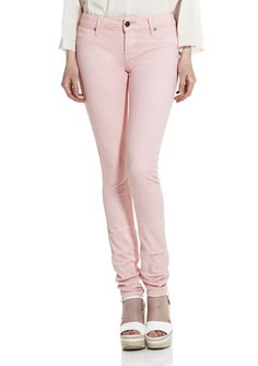 Peach Skinny Jeans.