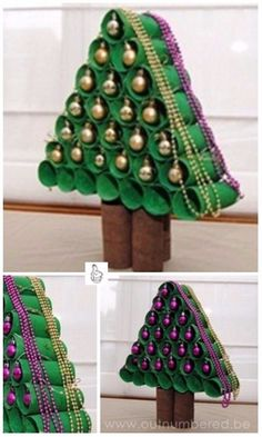 DIY Toilet Paper Roll Christmas Craft Project Tutorials-DIY Toilet Paper Christmas Tree For Kids
