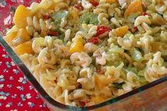 Peach Noodle Salad recipe – All 4 Women South African Dishes, South African Recipes, Ethnic Recipes, Braai Recipes, Cooking Recipes, Meat Recipes, Yummy Recipes, Curry Pasta Salad, Braai Salads