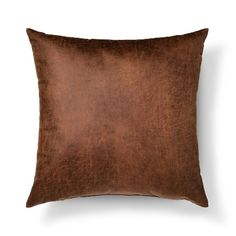 Throw Pillow Faux Leather Oversized Brown - Threshold™ : Target