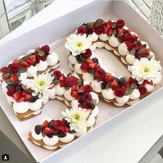 Cocina – Recetas y Consejos Number Birthday Cakes, Number Cakes, 50th Birthday Party, Birthday Cookies, Beautiful Cakes, Amazing Cakes, Food Cakes, Cupcake Cakes, Nake Cake