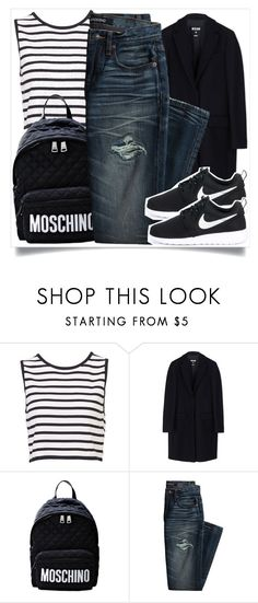 """""""School Style"""" by madeinmalaysia ❤ liked on Polyvore featuring MSGM, Moschino, Canvas by Lands' End and NIKE"""